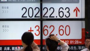 À la Bourse de Tokyo,  l'indice Nikkei a cédé plus de 6 %, mardi 6 février.