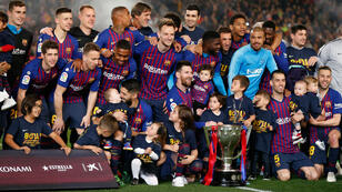 Le Barça, titré pour la 26e fois en Liga.
