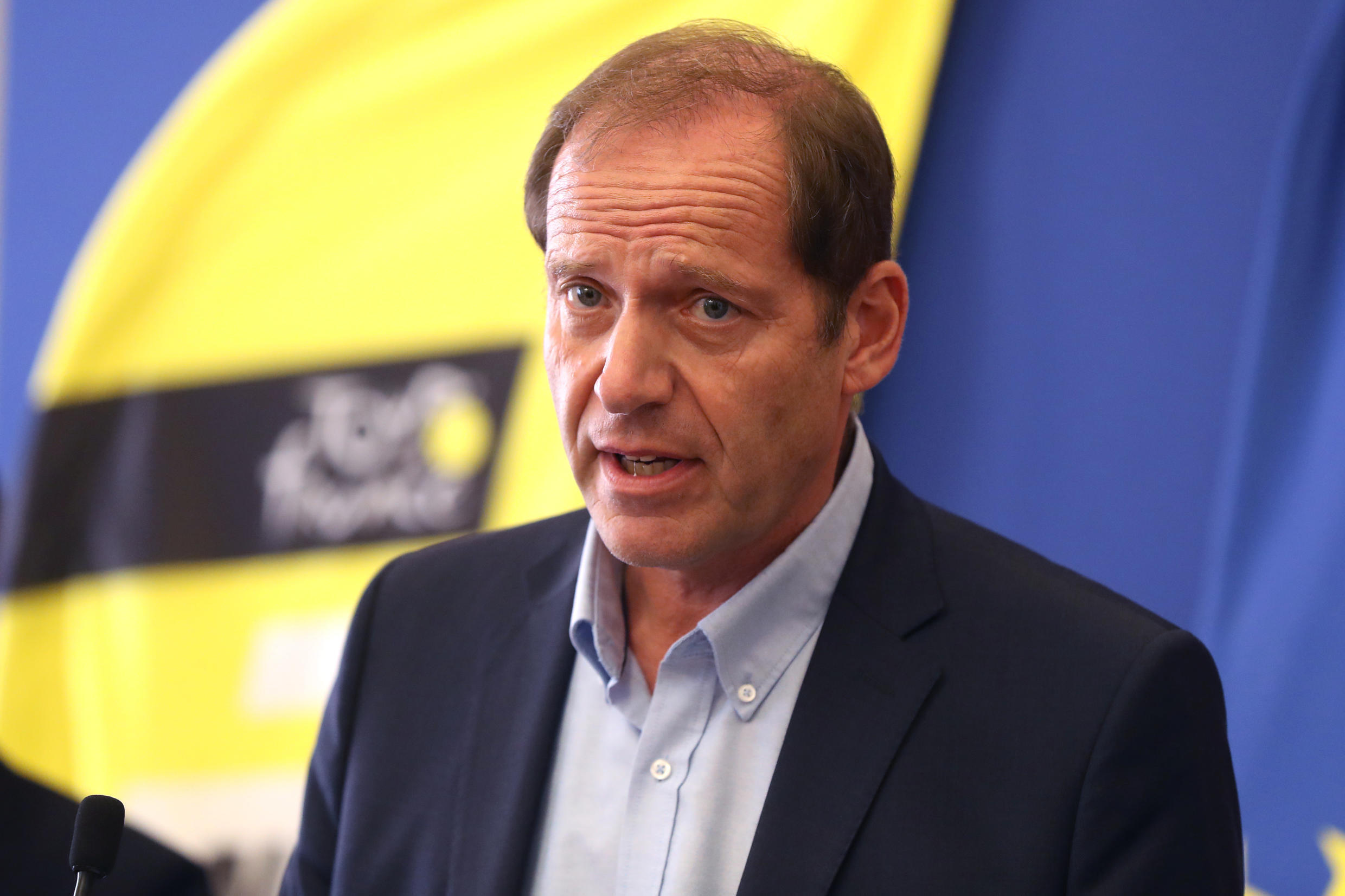 Tour de France director Christian Prudhomme in Nice, France, on August 19, 2020.