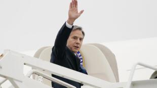وزير الخارجية الأميركي أنتوني بلينكن لدى مغادرته ماريلاند بتاريخ 24 أيار/مايو 2021