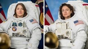 رائدا الفضاء الأمريكيان كريستينا كوتش وجيسيكا مائير إلى محطة الفضاء الدولية (ISS) لاستبدال المعدات الكهربائية. هو ، ناسا