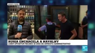 2021-01-18 18:08 Informe desde Moscú:  Alexéi Navalny estará detenido durante 30 días