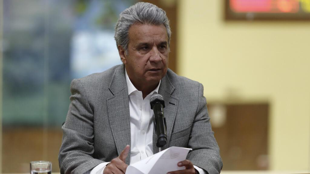 El presidente de Ecuador, Lenín Moreno, confirmó en una rueda de prensa el asesinato de los tres integrantes del equipo periodístico de El Comercio secuestrado el 26 de marzo en la provincia de Esmeraldas, frontera con Colombia. Abril 13 de 2018.
