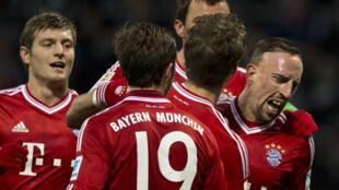 Le Bayern Munich et son milieu de terrain français Franck Ribéry