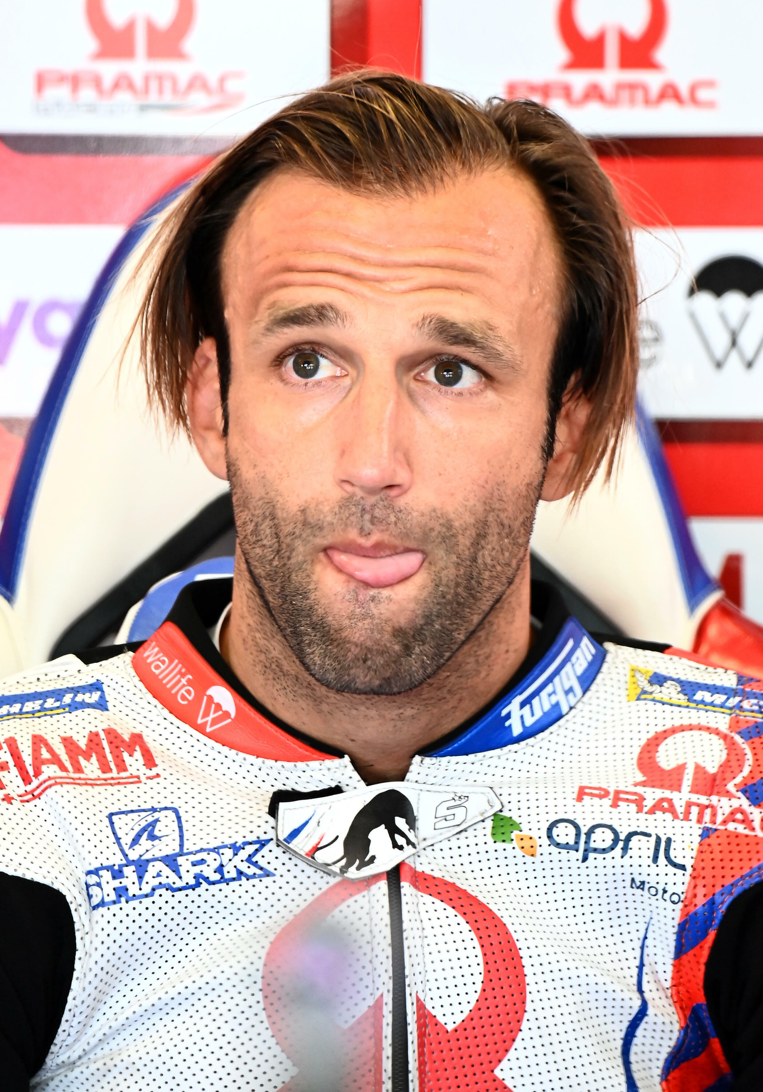 French rider Johann Zarco (Ducati-Pramack), during a break during the third free practice session of the Austrian MotoGP Grand Prix, August 14, 2021 at the Red Bull Circuit in Spielberg.