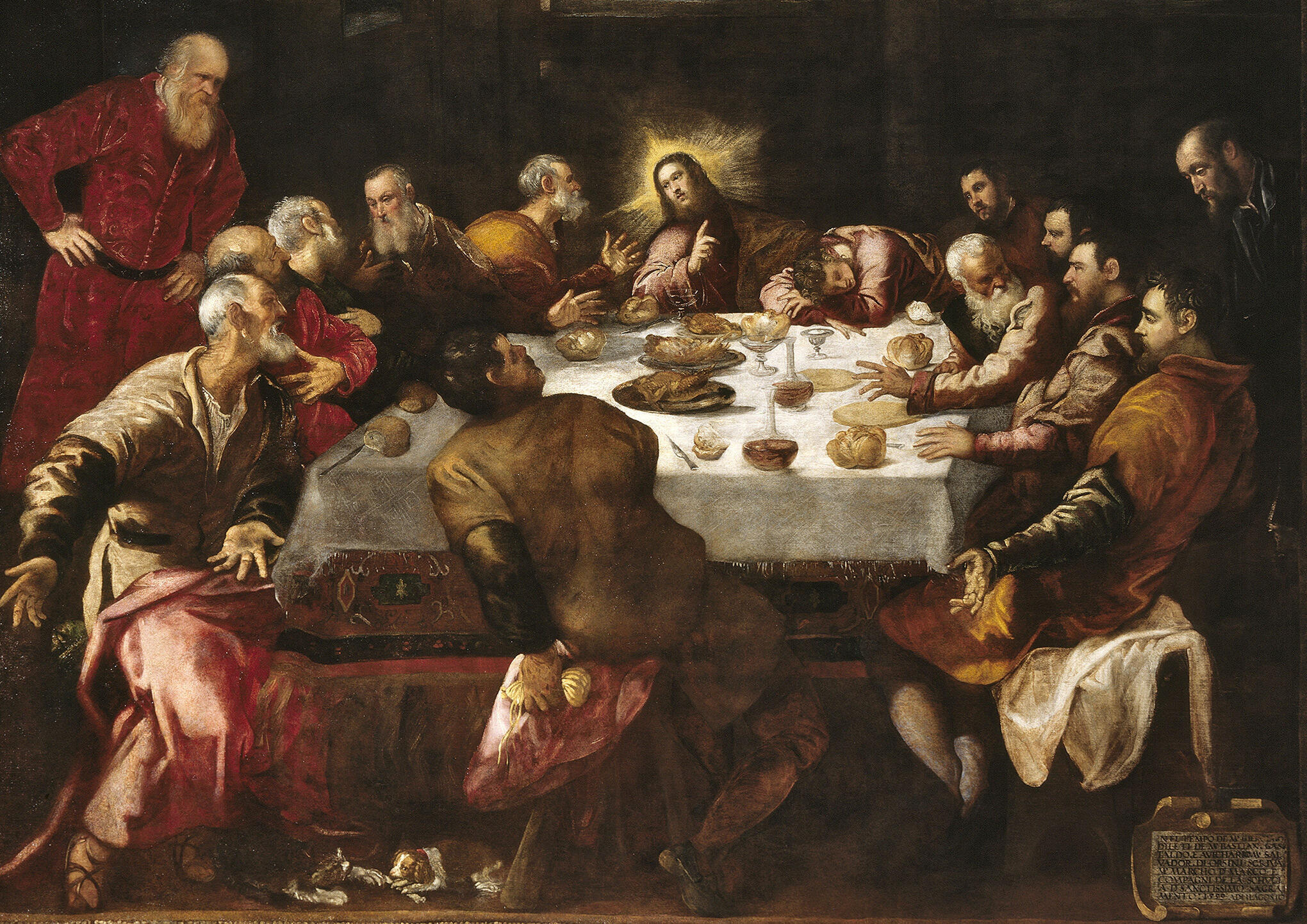 """The Last Supper"" by Jacopo Tintoretto, a hidden gem in the church of Saint-François-Xavier."