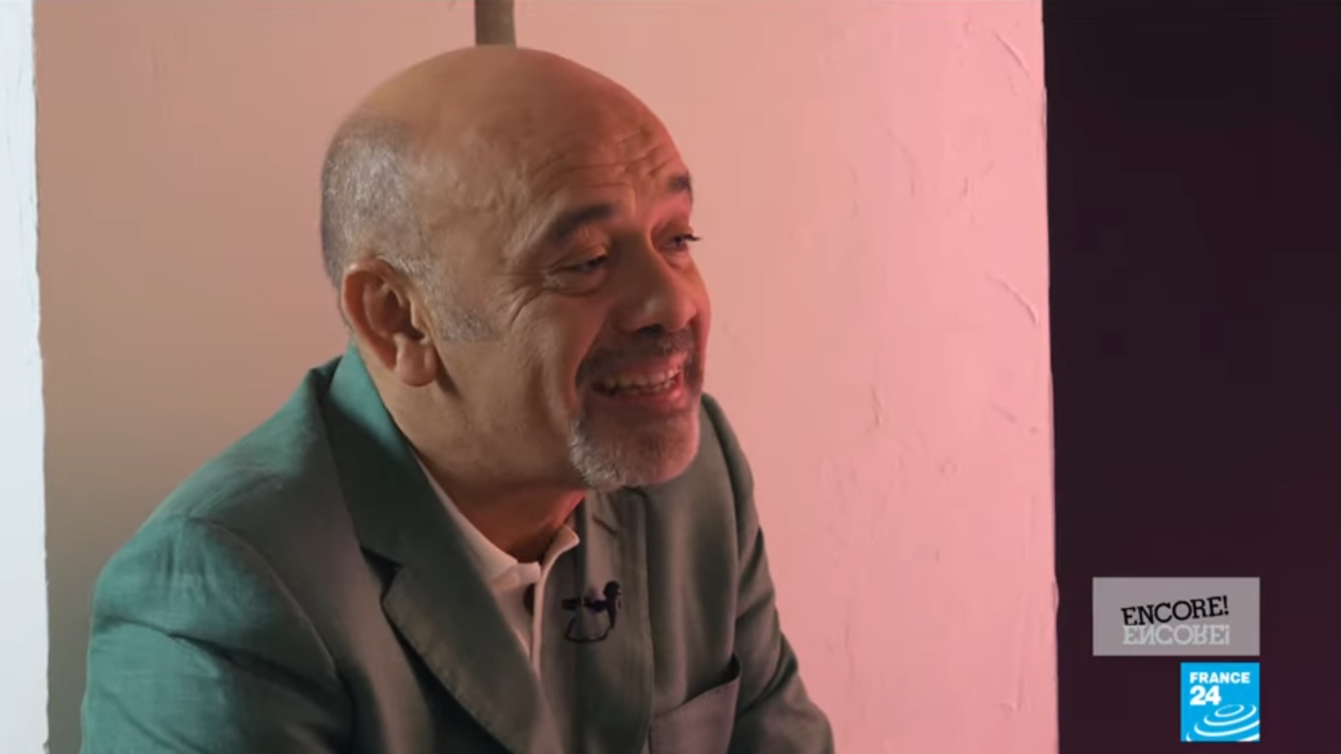 Christian Louboutin talks shoes and art with FRANCE 24's Encore programme, March 19 2020.