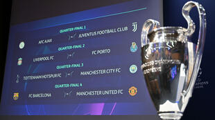 Voici les quatre affiches des quarts de finale de la Ligue des champions.