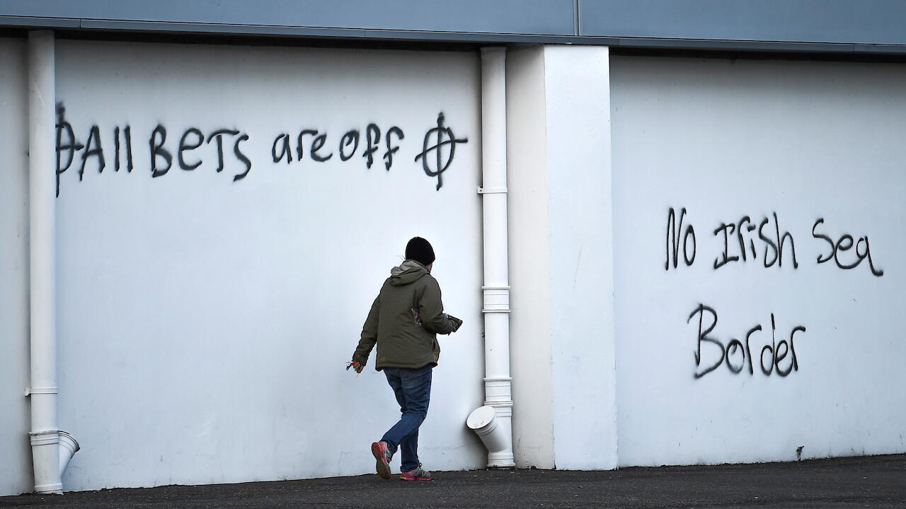 Northern Ireland loyalist graffiti