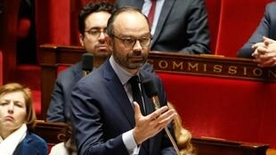 Édouard Philippe, mardi 27 mars 2018, à l'Assemblée nationale.
