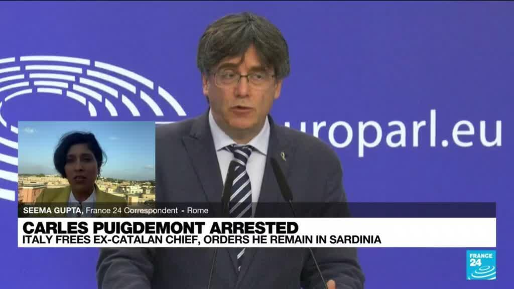 2021-09-24 17:02 Catalan leader to be freed in Sardinia pending extradition hearing