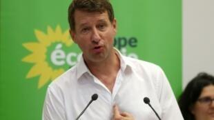 Yannick Jadot, chef de file d'Europe Ecologie Les Verts (EELV)lors d'un conseil fédéral le 22 juin 2019 à Paris