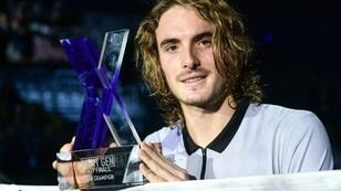 Greece's Stefanos Tsitsipas jumped from 91st in the world this season to 15th