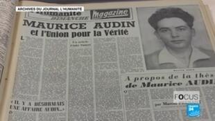Maurice Audin, communiste et partisan de l'indépendance de l'Algérie, a disparu en 1957 après avoir été arrêté à son domicile..