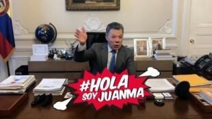 Captura de pantalla del video de presentación de la cuenta #HolaSoyJuanMa.