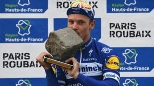Le Belge Philippe Gilbert remporte Paris-Roubaix le 14 avril 2019