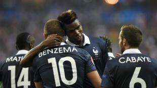 Karim Benzema et Paul Pogba ont marqué les deux buts français face au Portugal.