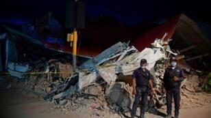 مبان دمرها الزلزال في مدينة خوشيتان بولاية أوخاكا المكسيكية في 9 أيلول/سبتمبر 2017