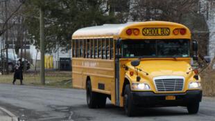 Un bus scolaire dans le compté de Rockland, au nord de New York.