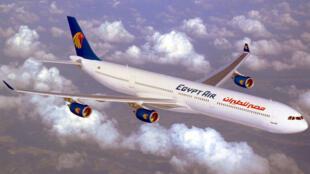 Un Airbus A340-600 de la compagnie égyptienne EgyptAir.
