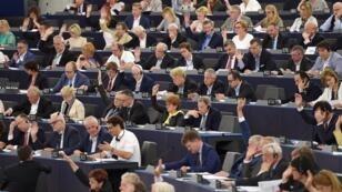Au Parlement européen à Strasbourg, le 4 juillet 2018.