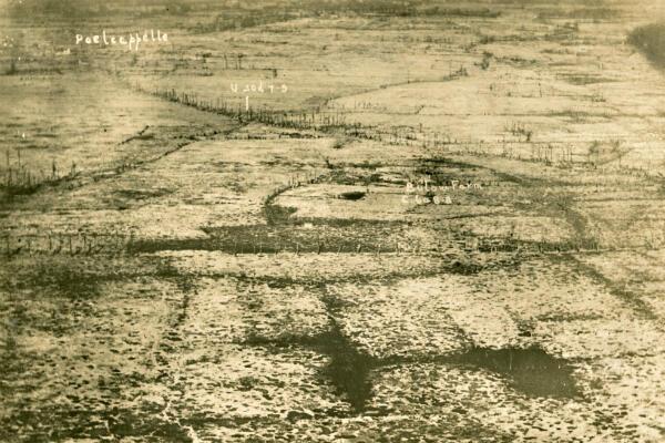 Une vue aérienne du champ de bataille en septembre 1917