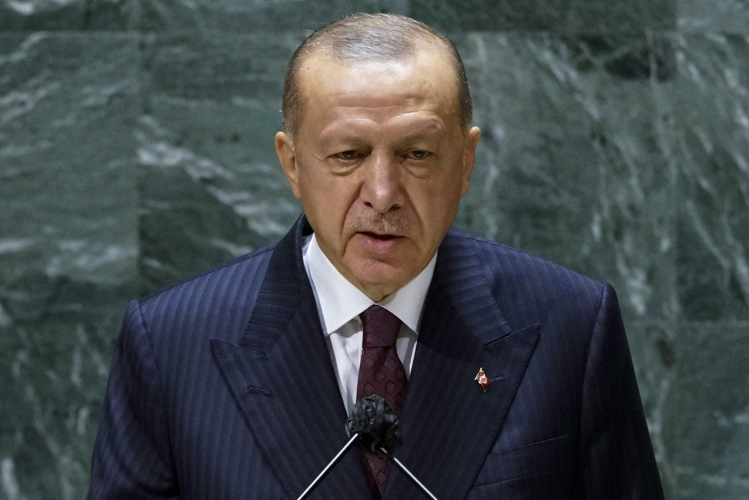 Turkish President Recep Tayyip Erdogan tells the UN his country will finally ratify the Paris climate deal