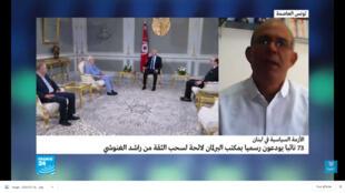 صورة لمراسل فرانس24 في تونس نور الدين مباركي ملتقطة من شاشة فرانس24