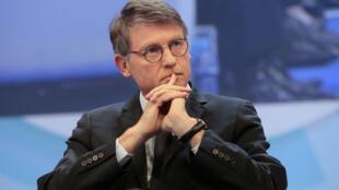 Vincent Peillon, alors ministre de l'Education, lors du Congrès des maires de France à Paris en novembre 2013..