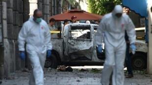 تفجير انتحاري استهدف العاصمة التونسية في 27 يونيو/حزيران 2019.