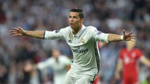 Cristiano Ronaldo, auteur d'un triplé face au Bayern Munich.