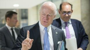 L'envoyé spécial de l'ONU, Staffan de Mistura, mercredi 27 avril 2016, à Genève.