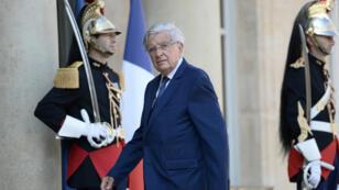 Jean-Pierre Chevènement, mardi 30 août 2016, arrive à l'Élysée pour assister au discours de François Hollande devant les ambassadeurs de France.