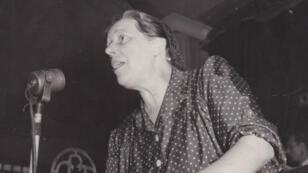 Martha Desrumaux au Congrès Textile, en juin 1948.