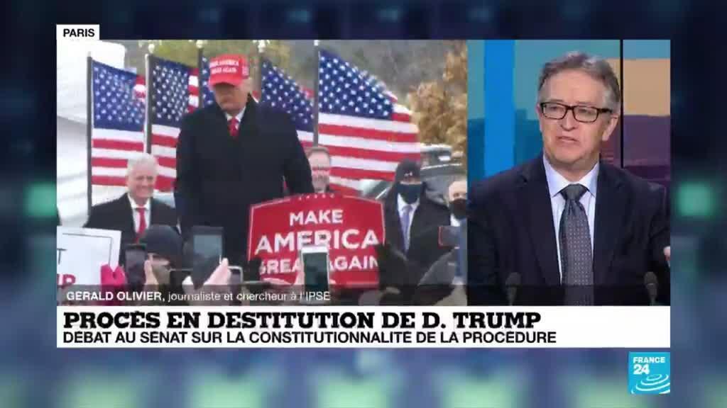 """2021-02-09 18:04 Procès en destitution de Donald Trump : """"On est dans du théâtre politique"""""""