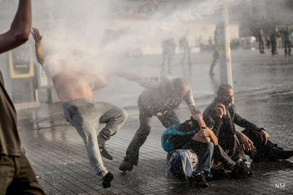#OccupyGezi Police hit activists with water