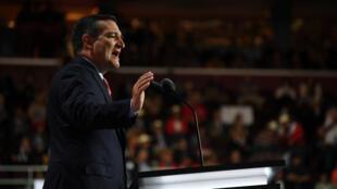 Le sénateur du Texas, Ted Cruz, mercredi 20 juillet 2016, lors de la convention républicaine à Cleveland.