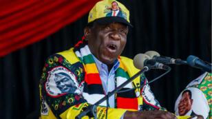 Le président du Zimbabwe Emmerson Mnangagwa à Harare, le 28 juillet.