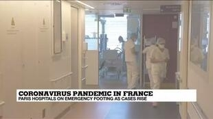 2020-10-09 10:07 Parisian ICU beds reaching saturation under strain of Covid-19