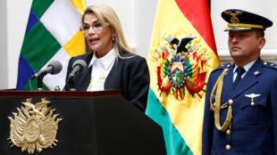 La présidente par intérim de la Bolivie, Jeanine Anez, le 24 novembre 2019, à La Paz.