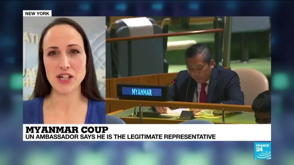 2021-03-03 17:03 Myanmar UN envoy, junta make rival claims to UN representation