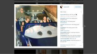 La réaction du bodyguard de Taylor Swift fait marrer les internautes sur Instagram.