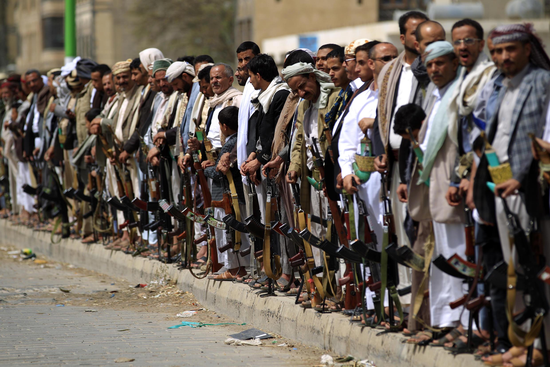 Manifestations de rebelles houtis à Sanaa, le 25 juin 2018.
