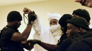 Hissène Habré le 20 juillet 2015 à Dakar.