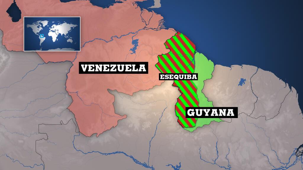 Esequiba abarca al menos dos terceras partes de Guyana.