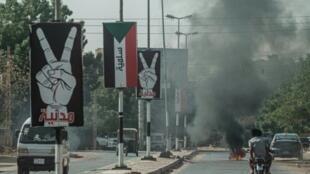 شارع من شوارع مدينة أم درمان في السودان في 21 حزيران/يونيو 2019