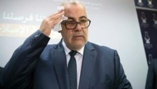 الأمين العام لحزب العدالة والتنمية عبد الإله بن كيران المكلف بتشكيل الحكومة الجديدة