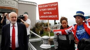 زعيم حزب العمل البريطاني جيريمي كوربين في المؤتمر السنوي للحزب، برايتون، 22 سبتمبر/أيلول 2019