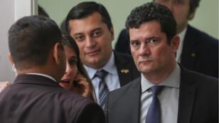 Sergio Moro, le ministre de la Justice et de la Sécurité publique, le 10 juin à Manaus.