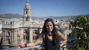 La directora de cine venezolana Anabel Rodríguez posa durante una entrevista al margen de la 23ª edición del Festival de Cine Español de Málaga, el 28 de agosto de 2020